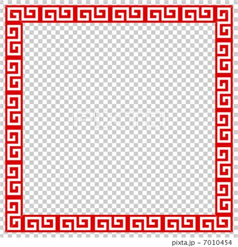 chinese pattern frame chinese pattern flame frame stock illustration