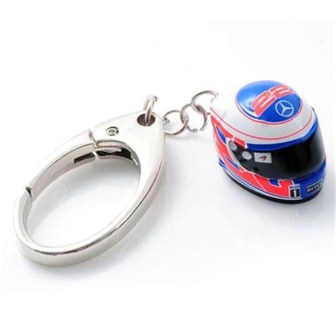 mclaren button helmet keyring