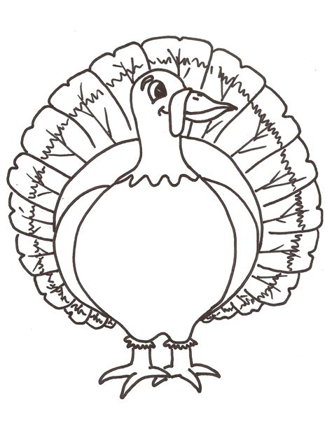turkey image coloring page free printable turkey coloring pages for kids