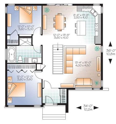 casa de dise o dise o de casas 2 dormitorios plano casa dos 54256