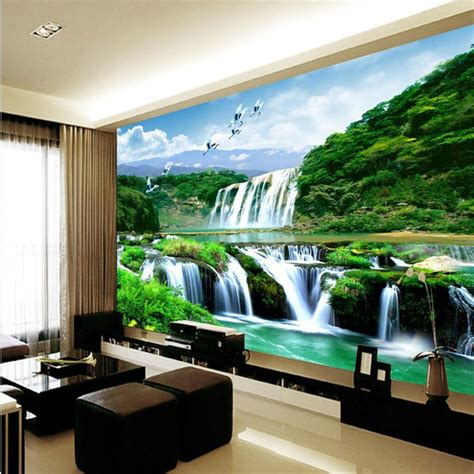 Custom Mural Wallpaper For Bedroom Walls 3d Luxury Gold Jewelry Wa aliexpress buy custom photo wall mural 3d wallpaper luxury quality hd crane falls