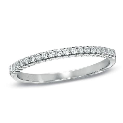 Wedding Bands White Gold by 1 6 Ct T W Wedding Band In 10k White Gold
