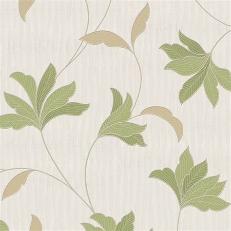 green wallpaper with leaf pattern graham brown alannah floral leaf pattern glitter