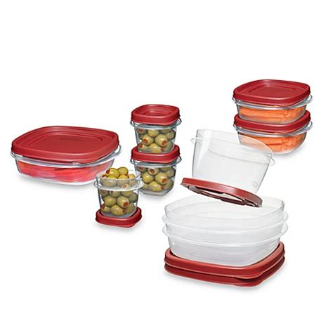bed bath and beyond containers rubbermaid 174 easy find lids 18 piece food container set
