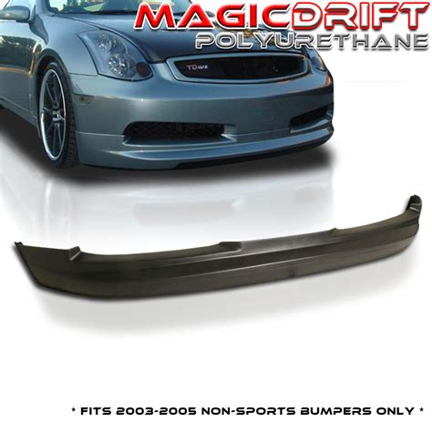 infiniti g35 front lip fit for 03 06 infiniti g35 coupe urethane front bumper lip