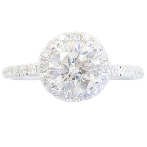18 karat white gold odelia halo engagement ring at