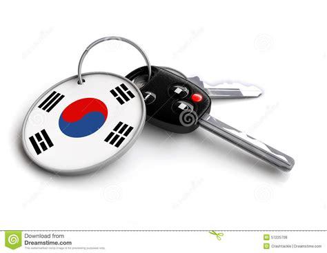 porte drapeau voiture cl 233 s de voiture avec le drapeau de la cor 233 e comme porte