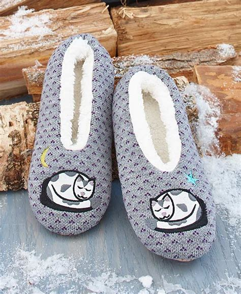 sherpa lined cozies slippers cozy sherpa lined cat slippers ebay