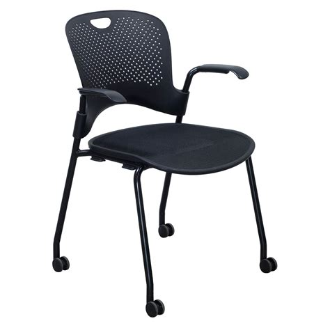 Herman Chair by Herman Miller Caper Used Mobile Stack Chair Black