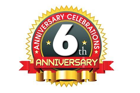 6th anniversary ping vector logo template   naveengfx