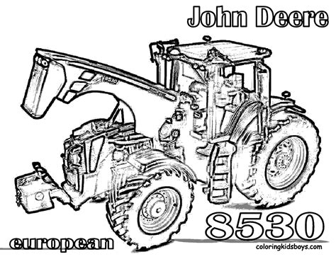 coloring page of john deere tractor free coloring pages of deer tractors