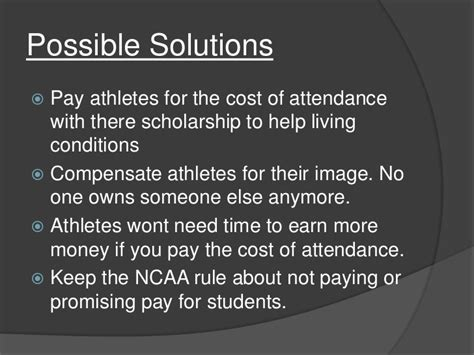 Should College Athletes Be Paid Essay by Not Paying College Athletes Essay