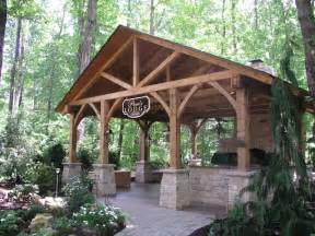 timber framed outdoor living space