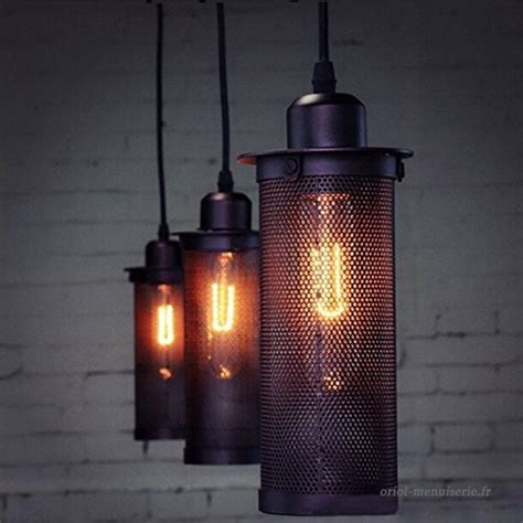 douille pour lustre luminaire suspension industriel vintage abat jour noir en