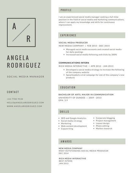 Gray Simple Minimalist Resume Templates By Canva Minimalist Resume Template