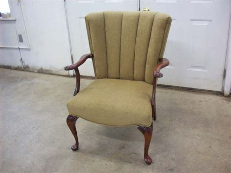 furniture re upholstery a channel back chair complete re upholstery upholstery