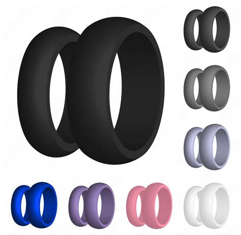 mens handmade ridged silicone wedding band unique rubber