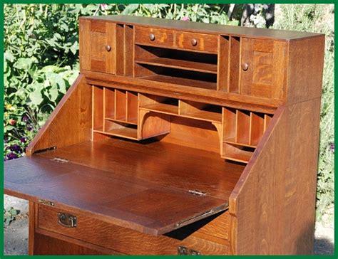 Drop Front Desk Plans by Stickley Drop Front Desk Book Plans Woodworking Talk