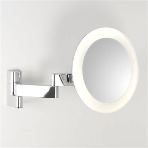 bathroom mirrors with magnification stylish round led vanity mirror d 250mm
