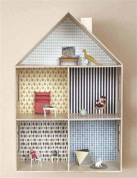 a doll s house printable version decoreer het houten poppenhuis met miniatuurbehang van