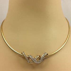 Choker Gold Ring Omega Choker 14k yellow gold slide pendant on omega style necklace ebay