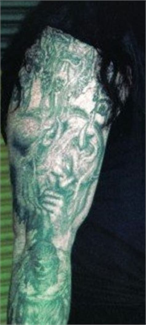 tattoo on undertakers neck kaneanites forever