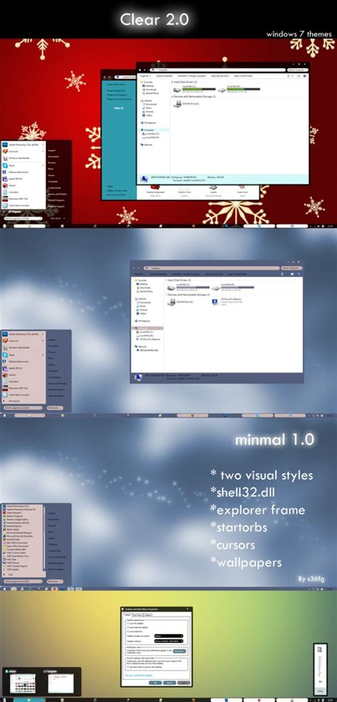 theme windows 7 visual style clear 2 0 visual styles for windows7