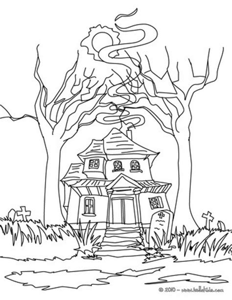 scary haunted house coloring pages scary haunted mansion coloring pages hellokids com