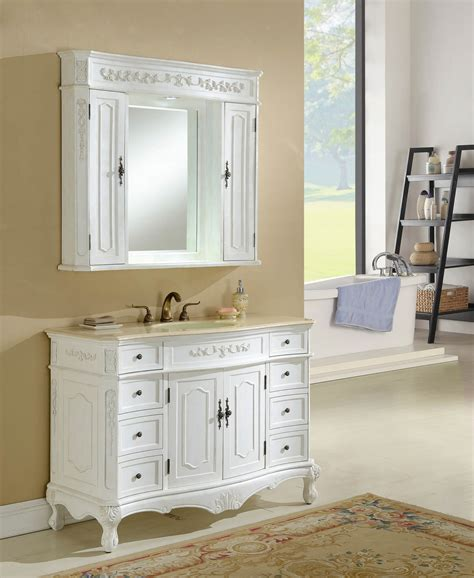 Antique White Bathroom Vanities by 48 Quot Kensington Antique White Bath Vanity Antique Recreations
