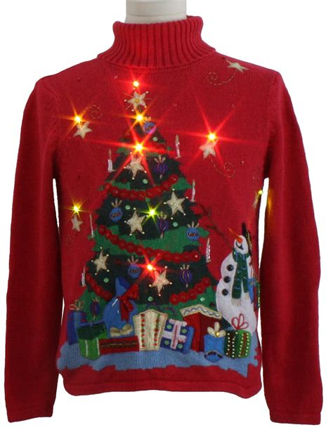 womens lightup ugly christmas sweater no label womens