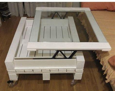 Délicieux Table Basse Palette Verre #3: Table-basse-palette-plateau-relevable.jpg