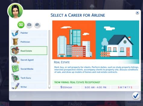 actor career sims 4 cheat real estate career by sims lover at mod the sims 187 sims 4