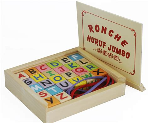 Mainan Mobil Kayu Abjad ronche abjad jumbo mainan kayu