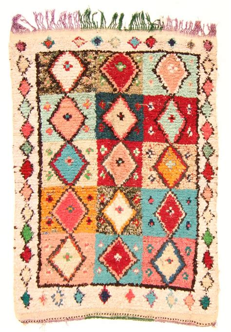 marokkanischer teppich marokkanischer berber teppich boucherouite 200 x 140 cm