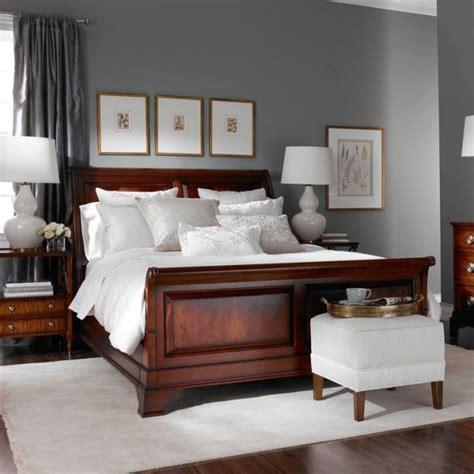 grey bedroom with dark wood furniture dark grey master bedroom paint color is benjamin moore