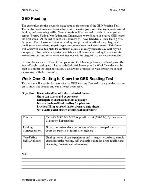 printable ged practice test ged math worksheets printable free 6 best images of