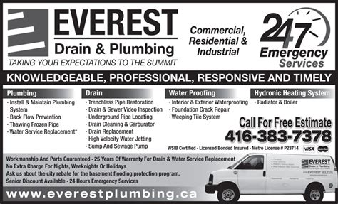 Leaside Plumbing by Everest Drain Plumbing 31 Commercial Rd East York On