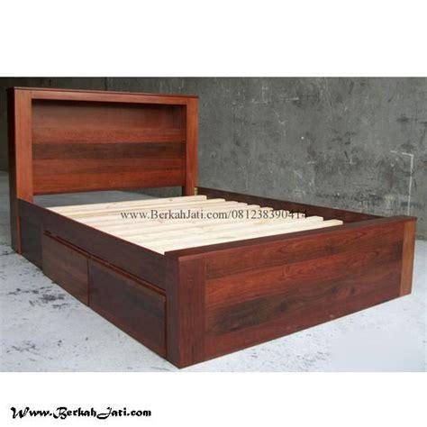 Tempat Tidur Kayu Laci tempat tidur minimalis model sing laci berkah jati