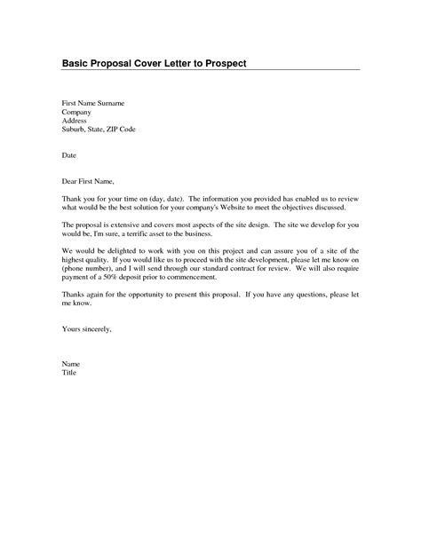 sle cover letter for proposal the letter sle