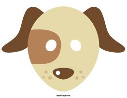 printable puppy mask dog mask templates including a coloring page version of
