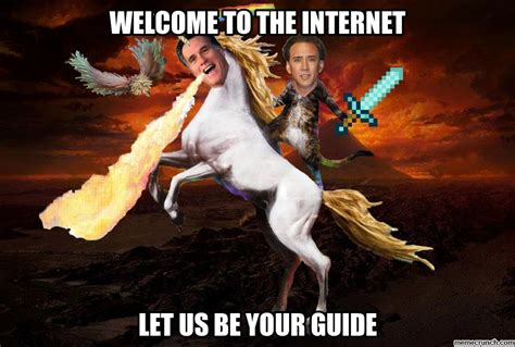 Internet Guide Meme - welcome to the internet