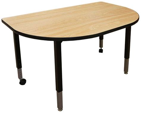 D Shaped Conference Table Modular Conference Table D Shape 30x48 Iowa Prison Industries