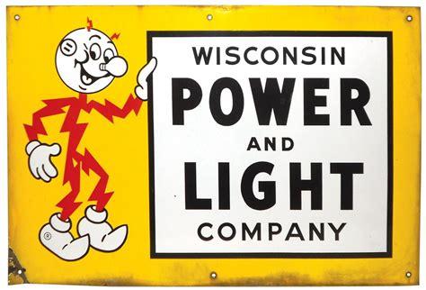 power light company advertising sign reddi kilowatt wisconsin power light