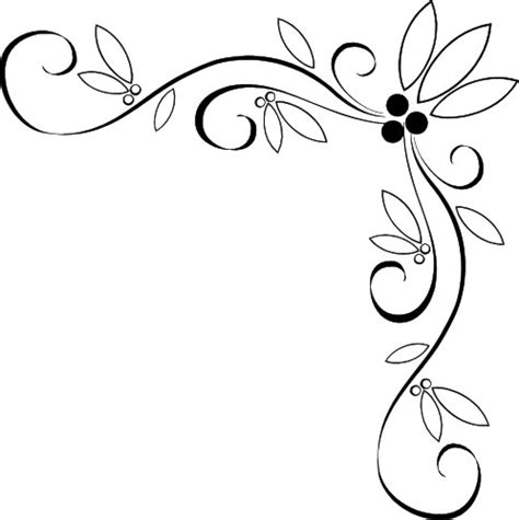 Wedding Border Patterns by Wedding Corner Border Clipart Clipart Panda Free