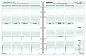 Planner Pad Template by Business Day Planner