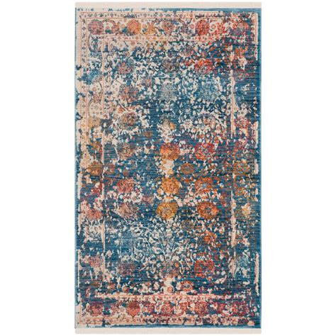safavieh vintage turquoise multi 5 safavieh vintage turquoise multi 3 ft x 5 ft area rug vtp409k 3 the home depot