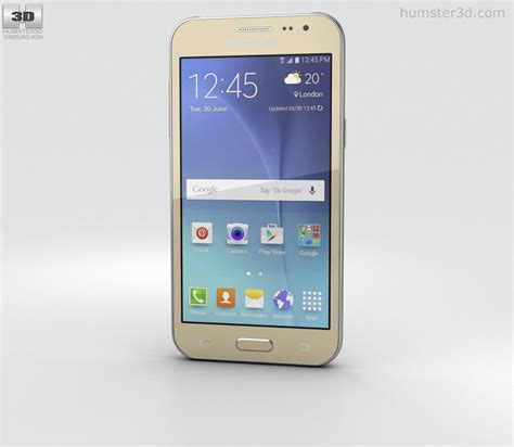 Samsung J2 Galaxy samsung galaxy j2 gold 3d model humster3d