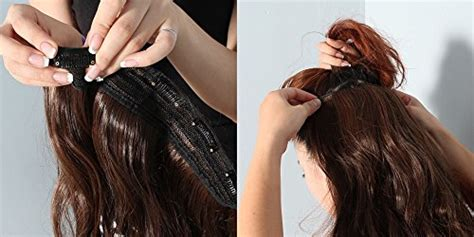 how to install clip in extensions on corn roll hair natural black long corn wave curly wavy one piece clip in