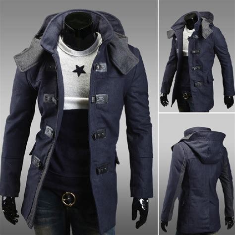 Blazer Navy Jas Pria Slimfit Korean Style Casual Pesta Kerja mens slim fit wool hoodies warm winter coat navy us 42 23 sold out