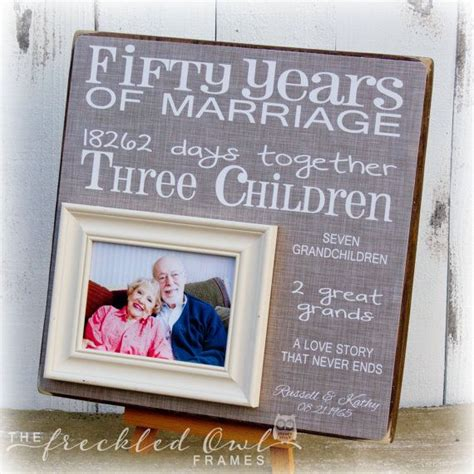 Anniversary Handmade Gift Ideas - 50th anniversary gift golden anniversary fifty years of